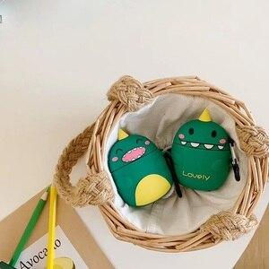 3D Silicone vert belle licorne riant visage timide Airpods étui de protection acheter un obtenir Anti-perte anneau libre lisse toucher à la main