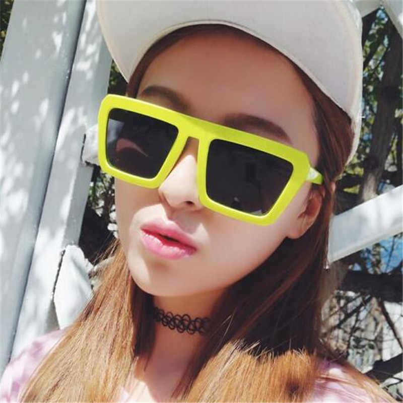 6a726edb763 ... 2018 Square Sunglasses Women Large Square Sunglasses Men Black Frame  Vintage Retro Sun Glasses Female Male ...