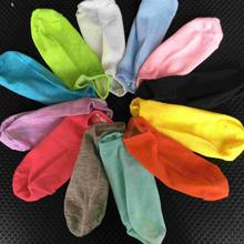 Wholesale 2 Pcs=1 Pair Women's Socks Solid Color 12 Candy Color Sock Women's Thin Sock Slippers.mix Colors .free Shipping