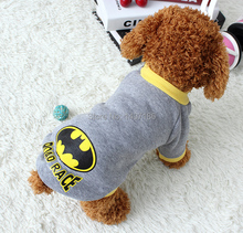 Free Shipping Batman Warm Cotton Sweater Flax 5sizes for Pet Dog Clothes