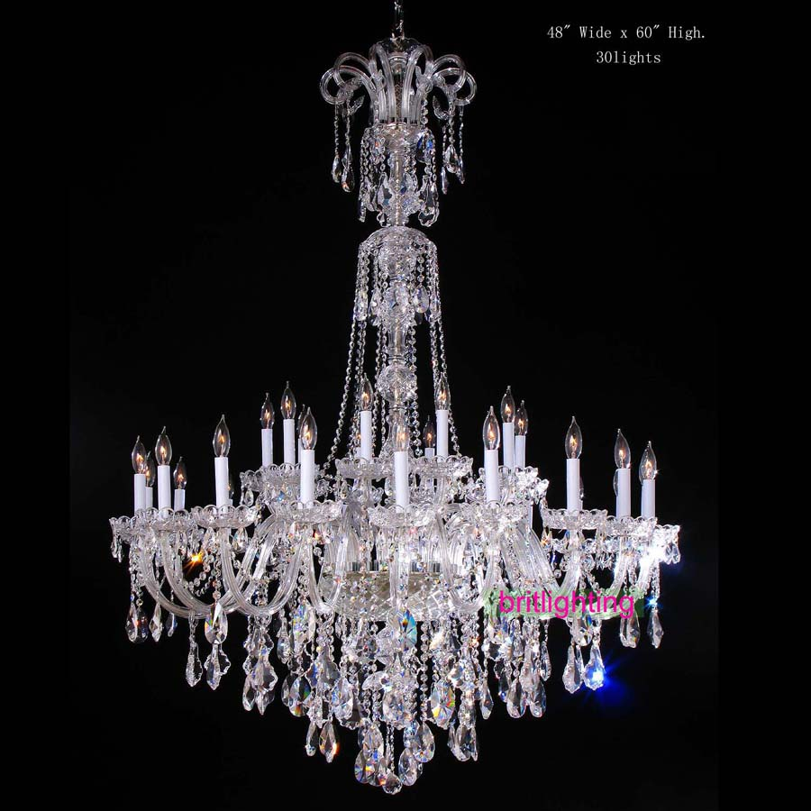 large chandelier with crystal pendants big lamp for hotel extra large - Indoor Lighting