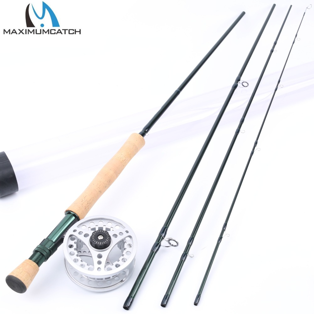 Maximumcatch 8WT Fly Rod Combo 9FT 4Pieces Medium-fast Carbon Fly Fishing Rod with 7/8WT Aluminum Large Arbor Fishing Reel maximumcatch fly fishing rod combo 9ft fly rod