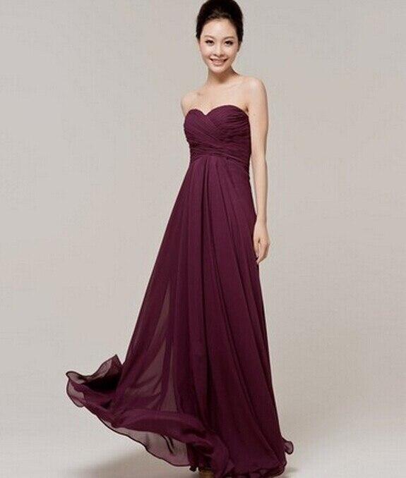 Vestidos color vino largos 2015