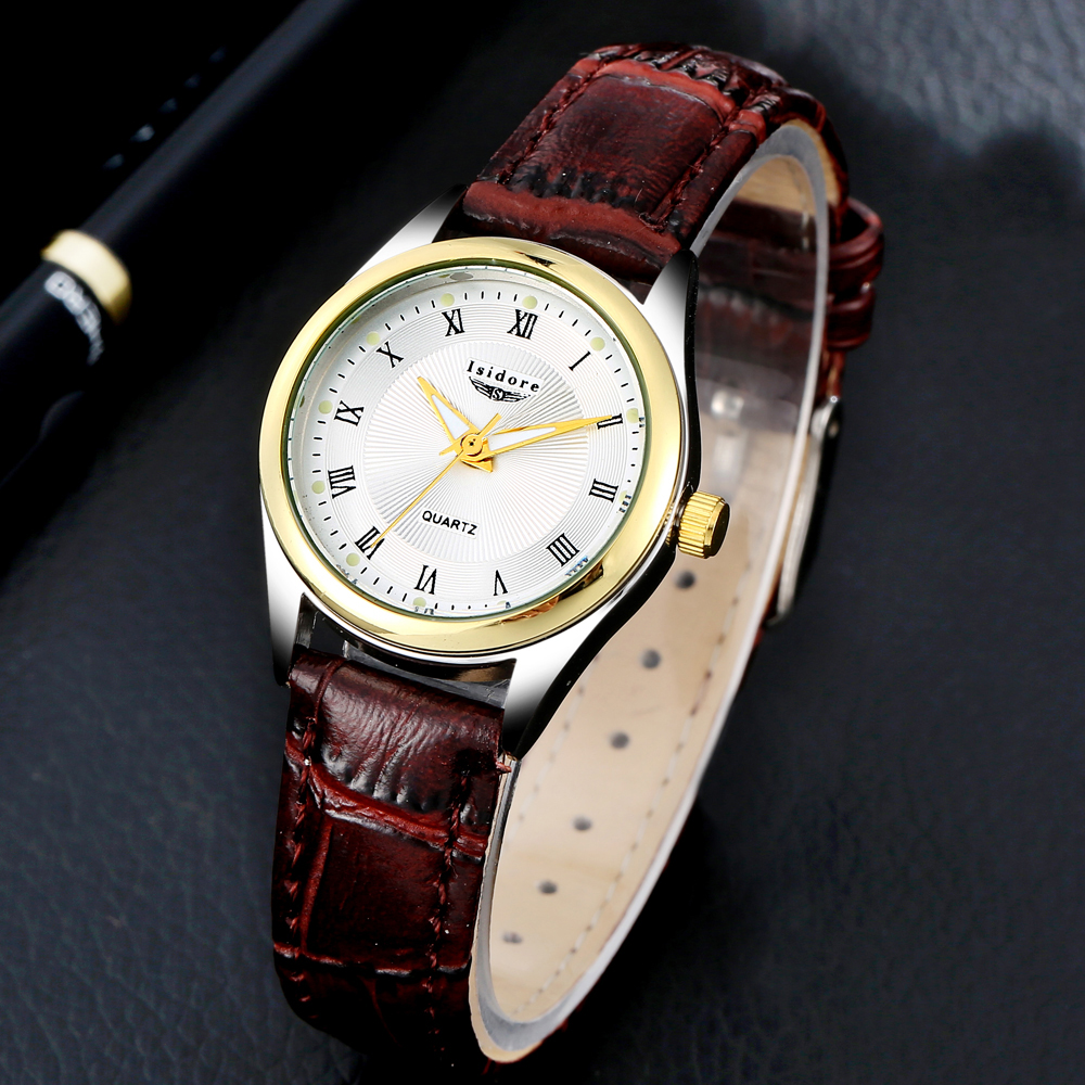 2016 fashion casual women watch luxury leather ladies dress gold roman dial waterproof quartz. Black Bedroom Furniture Sets. Home Design Ideas