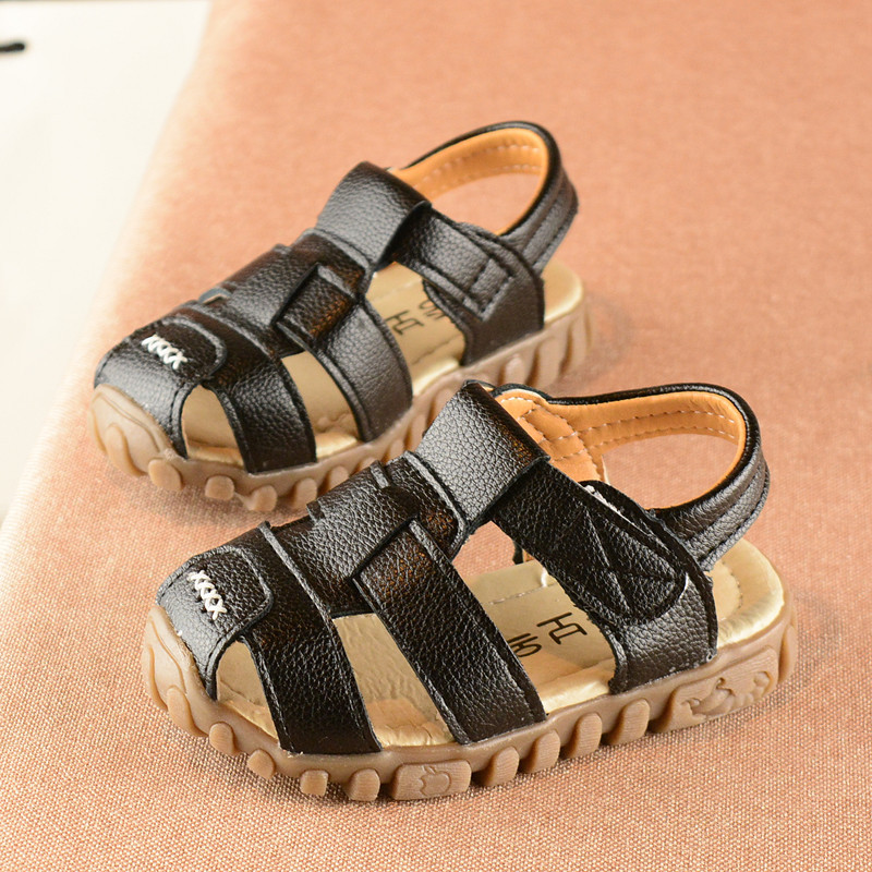 Summer sandals girl black kids sandles, princess sandals bag toes, sandals for kids boys white casual childrens sandals girls
