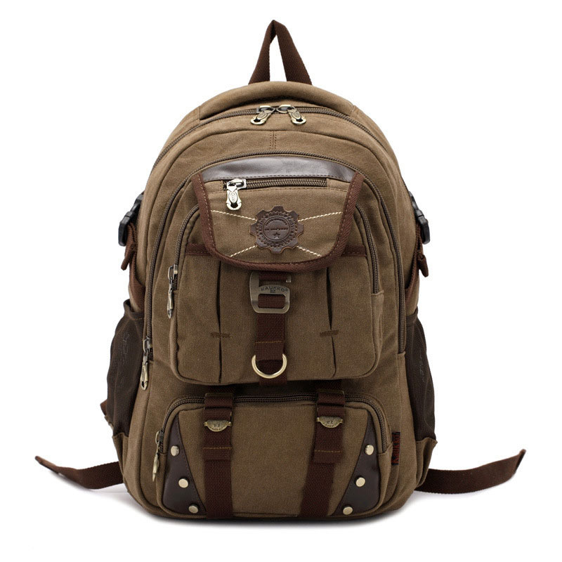 KAUKKO New fashion men's backpack vintage canvas backpack school bag men's travel bags large capacity travel laptop backpack bag цены онлайн