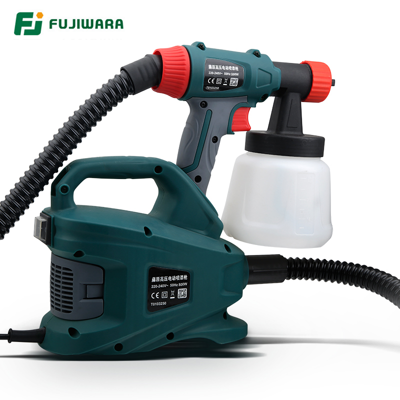 FUJIWARA 220V 800W Electric Spray Gun Split Type HVLP Paint Sprayer For Painting with Adjustable Flow Control 1.8m Hose 800w electric painter spray gun 900ml latex paint sprayer 1 8m spray hose hvlp paint sprayers house painting machine power tools