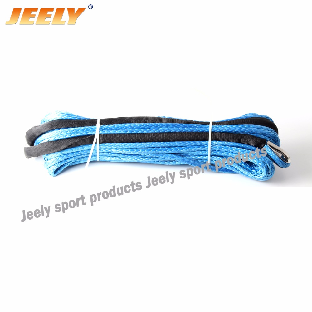 Jeely 40'x3/16'' 5400lb 5mmx12m uhmwpe braided synthetic winch line instead of Wire Cable ATV winch rope цены