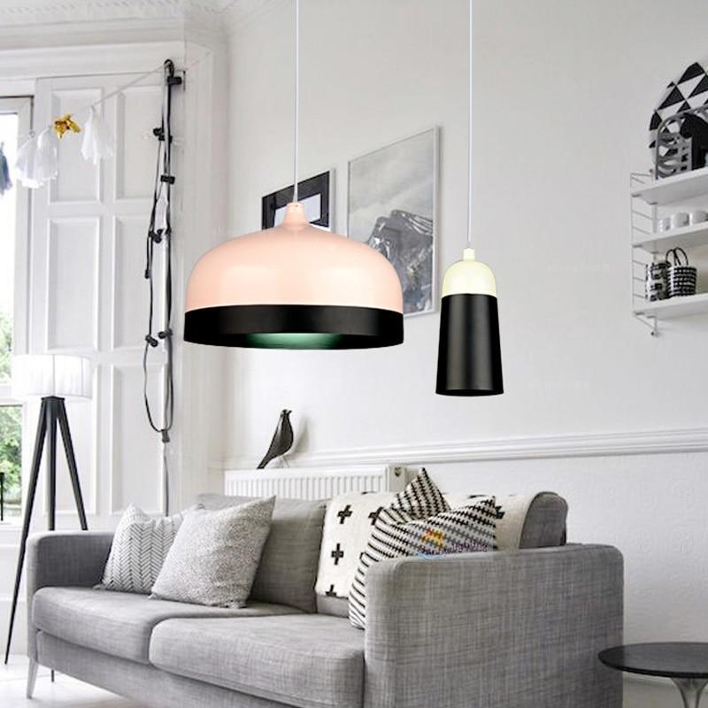 Nordic Restaurant aluminum pendant light bar Simple Creative Personalized Art Cafe Bar Desk Study Bedroom Living Room Lamps