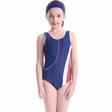Одежда для купания для девочек, детей Одна деталь купальник для девочек, ванный комплект для детей из сетчатой ткани, с Спортивная одежда для плавания для девочек, летняя одежда