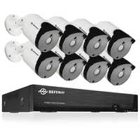 DEFEWAY 8CH HD 5.0MP Weatherproof Outdoor Security System 2560x1920P H.265+ HDMI CCTV Video Surveillance DVR Kit 8 Camera Set