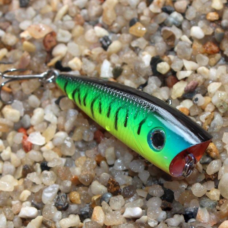 6cm 6.5g Topwater Fishing Lures Popper Lure Crankbait Minnow Hooks 8# Swimming Crank Baits PO002