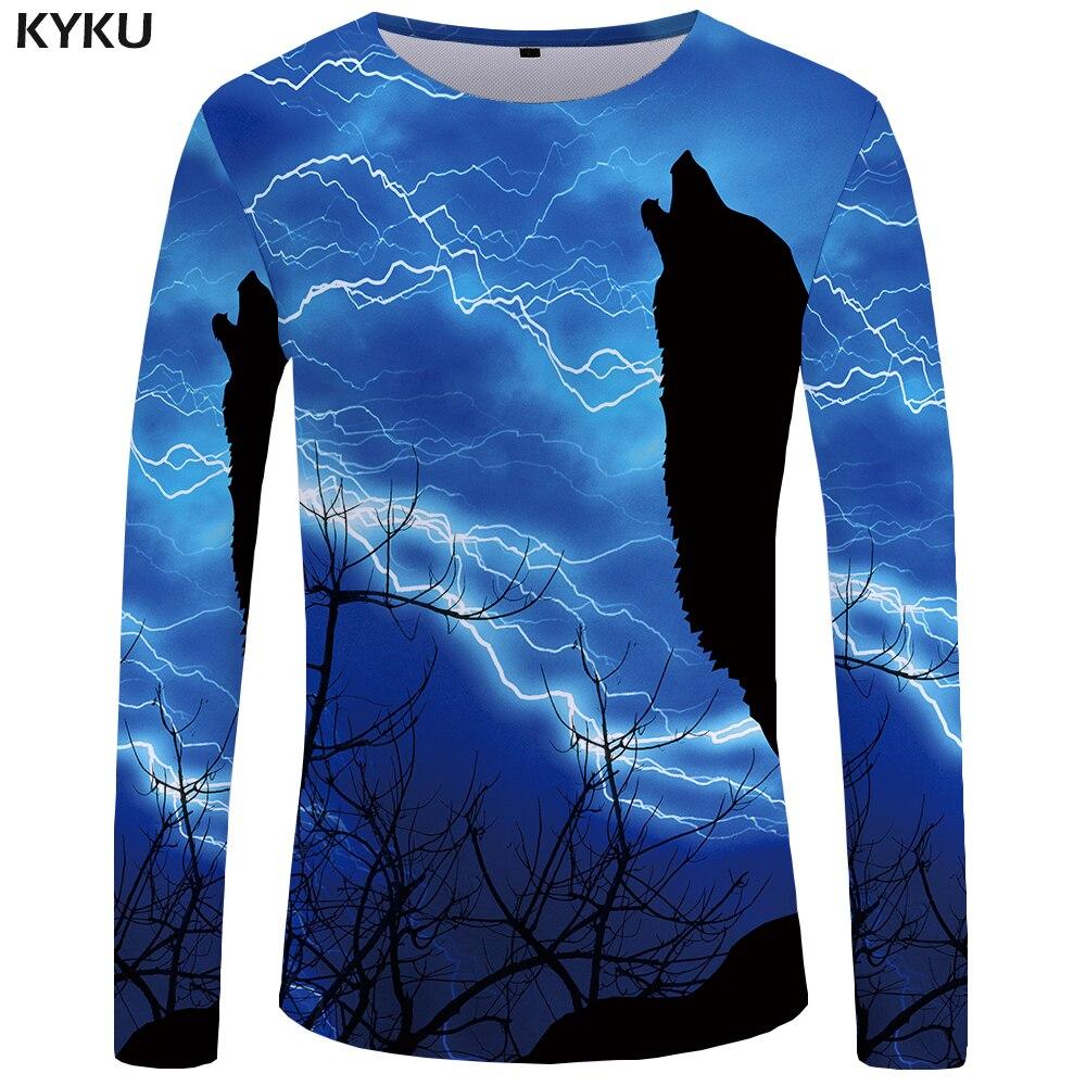 KYKU marca Dragon Ball Z camiseta hombres de manga larga camisa Cobra ropa  oscura divertida camisetas ff0f1bfde93a3