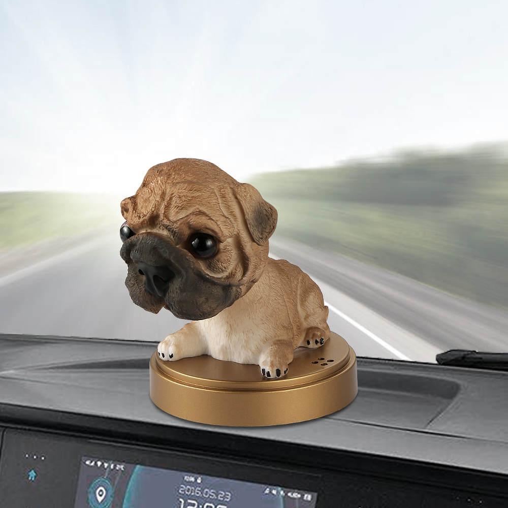 Car Ornament Shaking Head Dog Doll Solid Perfume Decoration Cute Automobile Interior Dashboard Bobble Head Dog Toys Accessories presidential donald trump doll shaking head toys car oranment toy for kids