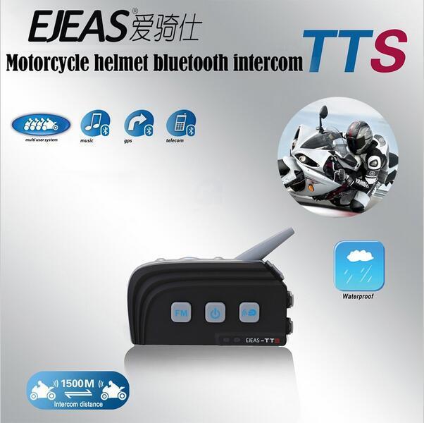 EJEAS 2017 Casco Ejeas TTS Dual Bluetooth Intercom Motorcycle Interphone Headset 300hrs Standby Fast Pairing For Ktm Helmet