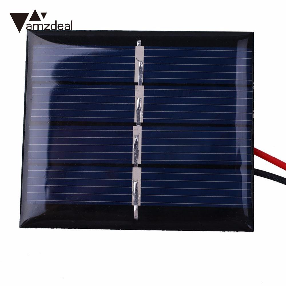 amzdeal 0.36W 2V Portable DIY Solar Panels Mini Solar Patch Cell Portable Outdoor Travelling Powerbank Charging Board DIY Module