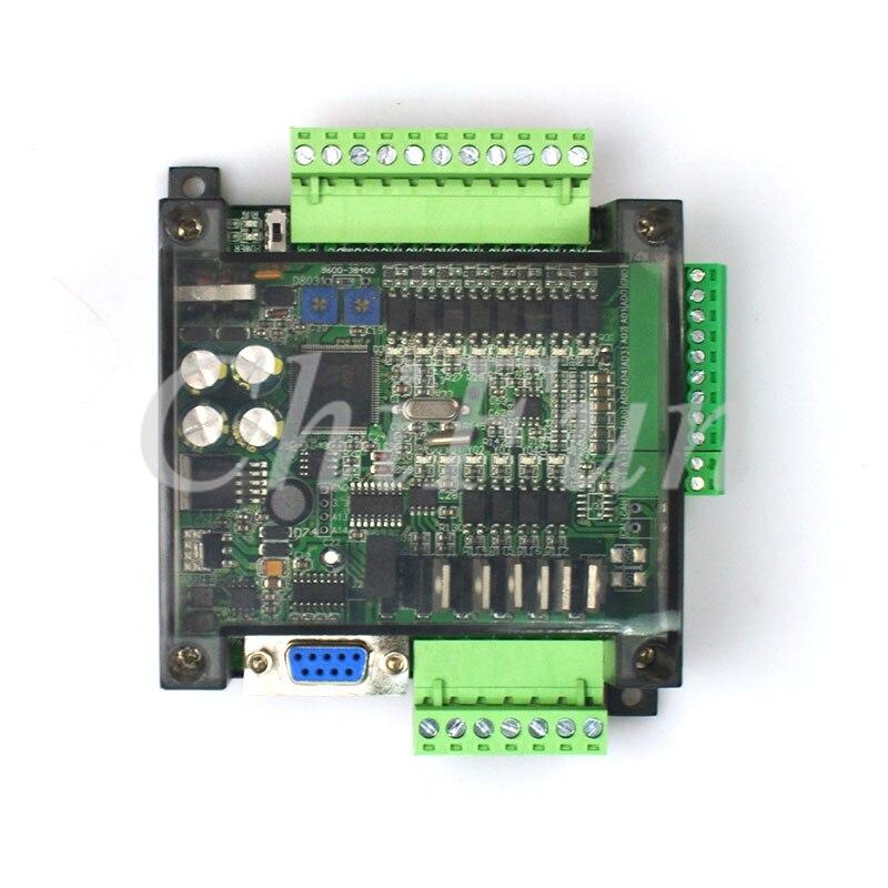 High speed FX1N FX2N FX3U 14MT 10MT PLC industrial control board 6AD 2DA with shell and