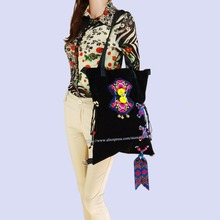 Free shipping Vintage Hmong Tribal Ethnic Thai Indian Boho shoulder bag rucksack backpack handmade embroidery Tapestry SYS-1020