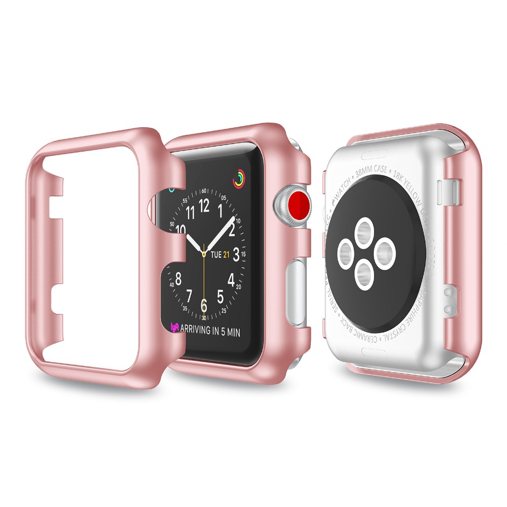 цены на Plastic Protect Cover For Apple Watch Series 3 38mm/42mm Case Protective Case for Apple Watch Series 3/Series 2/Series 1 в интернет-магазинах