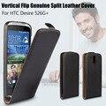 Роскошные вертикальный кожаный чехол высокое качество отразить вертикально подлинная спилка чехол для HTC Desire 526 г + две SIM карты