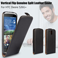 Luxury Vertical Leather case Good Quality Vertical Flip Genuine Split Leather Case for HTC Desire 526 G+ Dual SIM