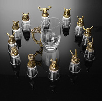 12 Zodiac White Wine Glass Set Dispenser Crystal Glass Chinese Small Glass Cup Shot Glass 12Pcs A Set Gift Box