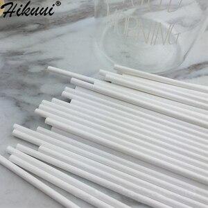 Image 4 - 100 adet güvenli plastik lolipop sopa kek Pop enayi Sticks çikolata şekerleme lolipop DIY kalıp aracı 10/15 /20cm