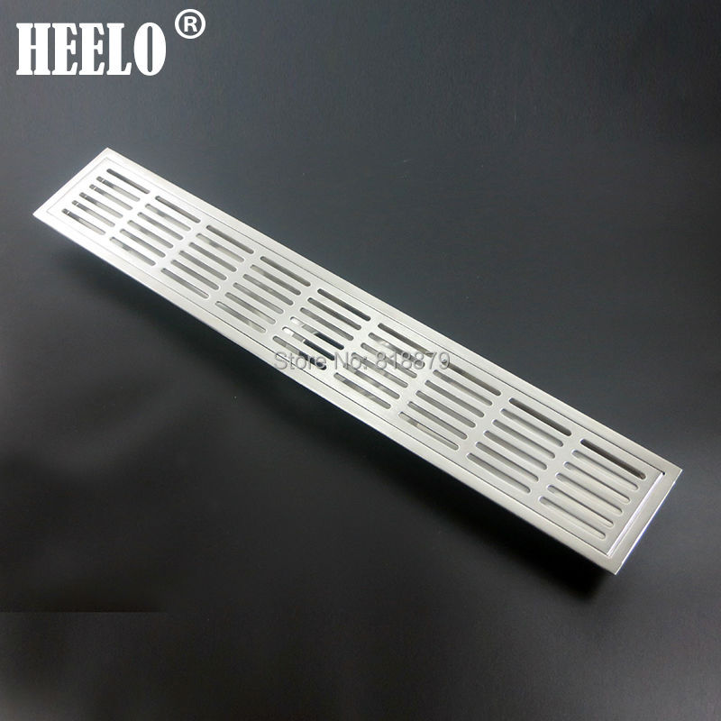 304 stainless steel Long Bathroom water trap anti-odor deodorization type floor drain 60*10cm stainless steel hand palm odor remover lasts forever