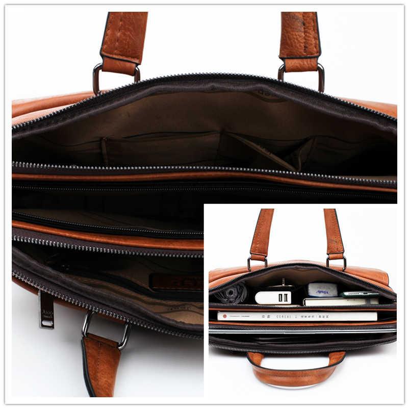 Jeep Buluo Merek Terkenal 2 Pcs Set Pria Tas Kerja Tas Tas Tangan untuk Pria Bisnis Fashion Tas Messenger 13.3' tas Laptop 8001/8888