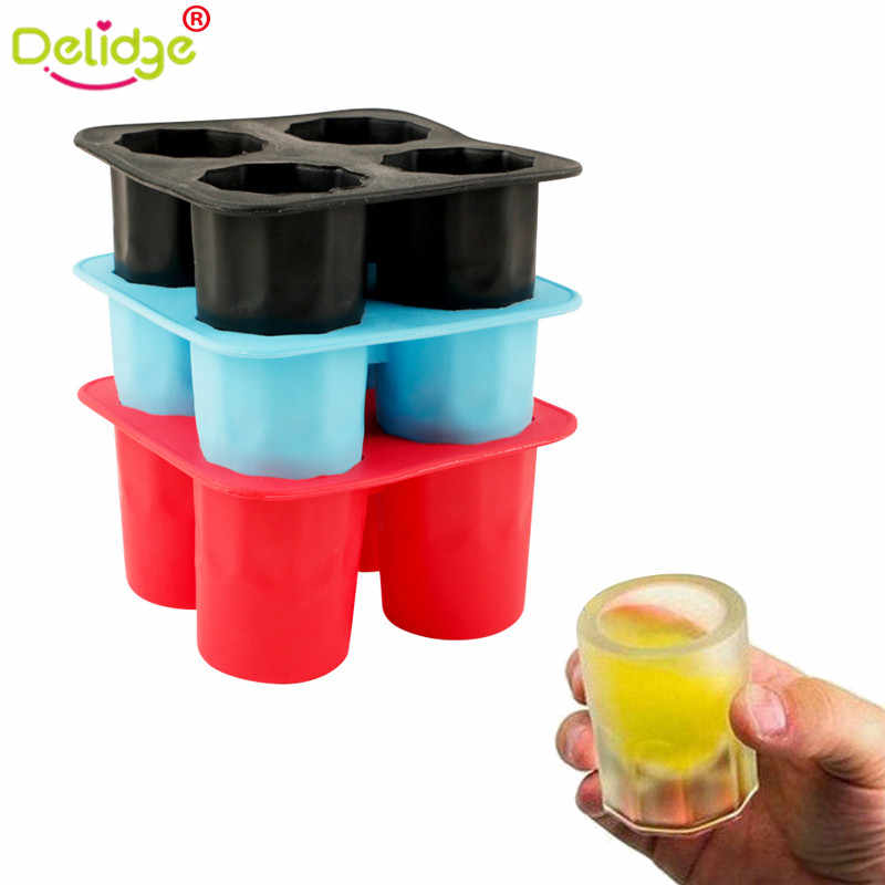 Delidge 1 pc Cup Shape Ice  Mold Soft Silicone Frozen Ice Tube Mould Party&Bar Ice Cubes Tray Ice Maker for Coke Novelty Gifts