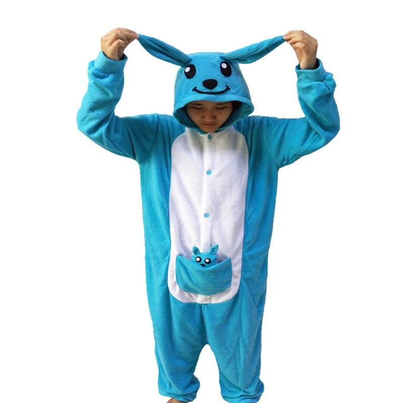 2018 New Blue Kangaroo Onesie Novel Girls Jumpsuit Pyjamas Nightgowns Women Sleeve Pajama Long Sleeve S-XL Chinese Market Online