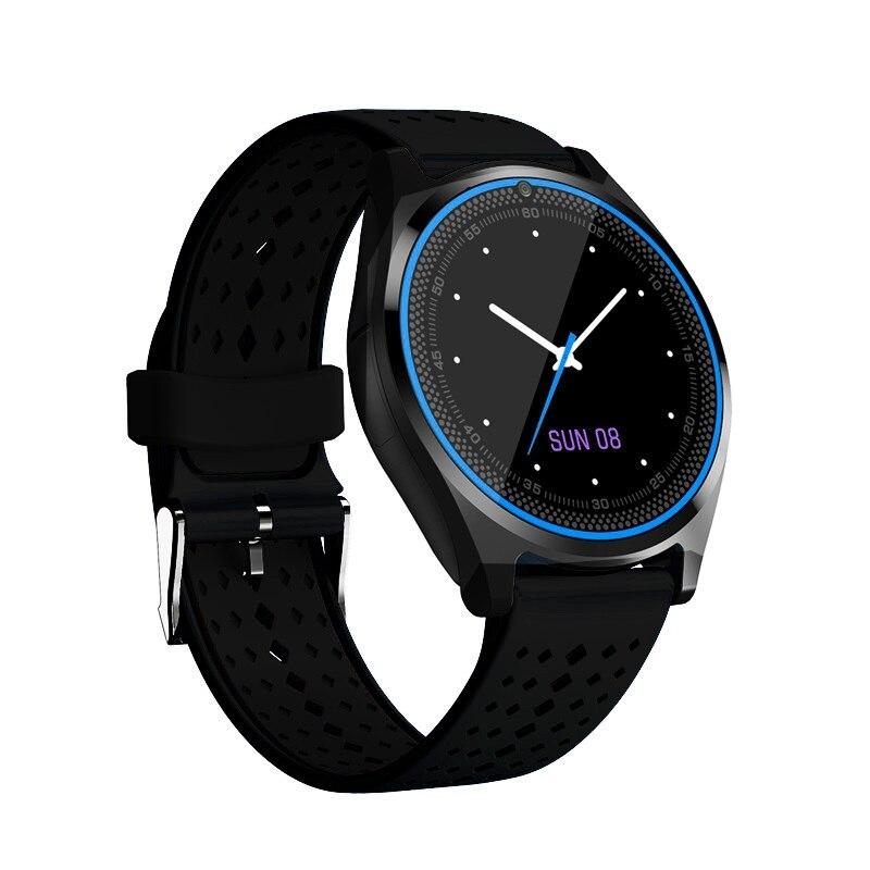 LYKL V9 montre intelligente Support caméra Bluetooth Smartwatch carte SIM montre-bracelet pour hommes femmes enfants appareils portables PK DZ09 GT08