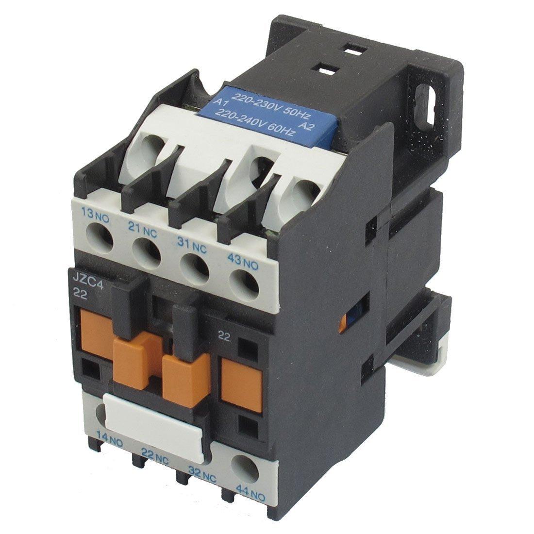цена на JZC4-22 220-240V 50/60Hz Coil 20A 2P Three Pole 2NO 2NC AC Contactor