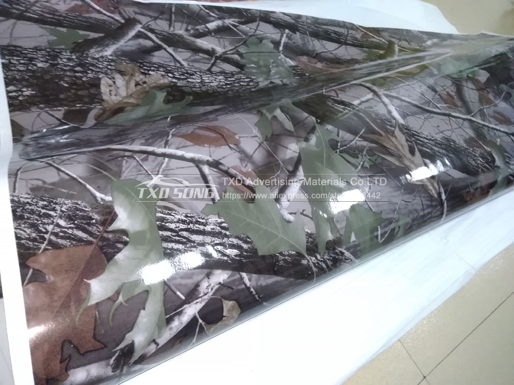 1.52MX5M/10M/15M/20M/30M/Lot Real Tree Camouflage vinyl film Digital printing Tree Camo Car sticker with air free bubbles - 6