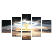 Modular Canvas HD Prints Posters Home Decor Living Room Wall Art 5 Pieces Jesus Is Coming Paintings Religion Pictures Framework