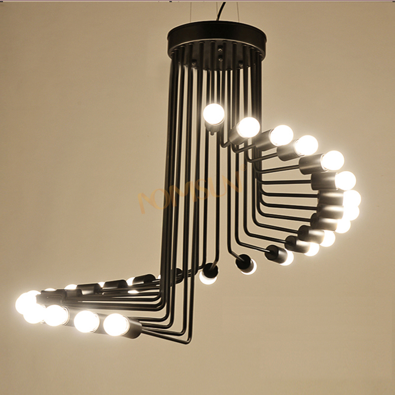 vintage pendant light with led bulbs American retro restaurant dining room DIY spider lights Industrial light ceiling lamp
