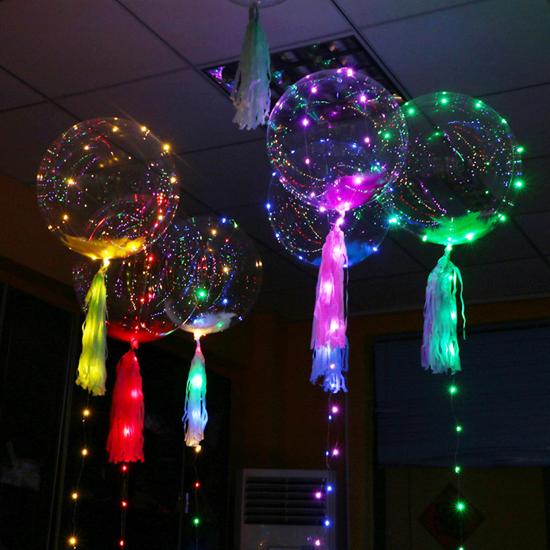 1 шт. светодиодный свет ясно шары прозрачный DIY гелий баллонов Globos на день рождения Свадебная вечеринка Декор поставки пузырь баллон подарки