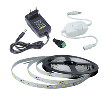 Dimmable LED strip tape 5630 300 LEDs + Female DC + led dimmer +DC12V2A Power adapter indoor led decoration