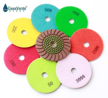 4 inch 100mm Quartz Granite Counter-top sunny Diamond polishing Pad Wet Stone Marble Polish tools copper bond and resin part