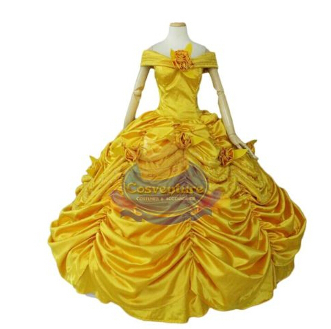 Ingyenes házhozszállítás felnőtt hercegnő belle ruha Szépség és a fenevad jelmez fantázia cosplay halloween ruha jelmezek a nők számára
