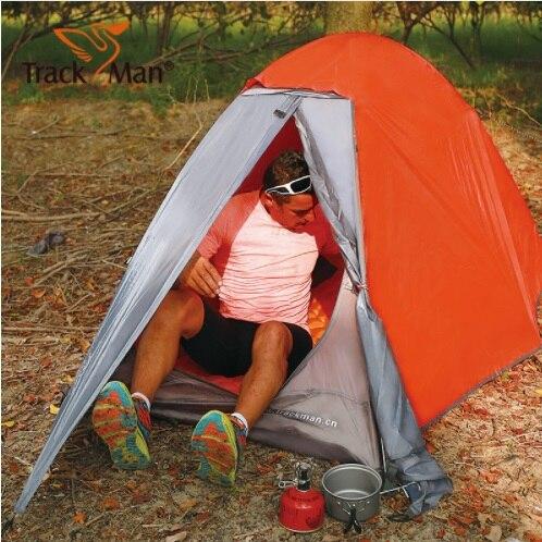 Trackman Camping tente 1-2 personne 2 couches 3 saison tente randonnée cyclisme alpinisme plage tente pêche Camping extérieur tente