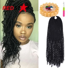 Faux Locs Crochet Hair 24 Roots 18″ Crochet Faux Lock Dreadlock Crochet Braids hair Extensions Synthetic Braiding hair For Women