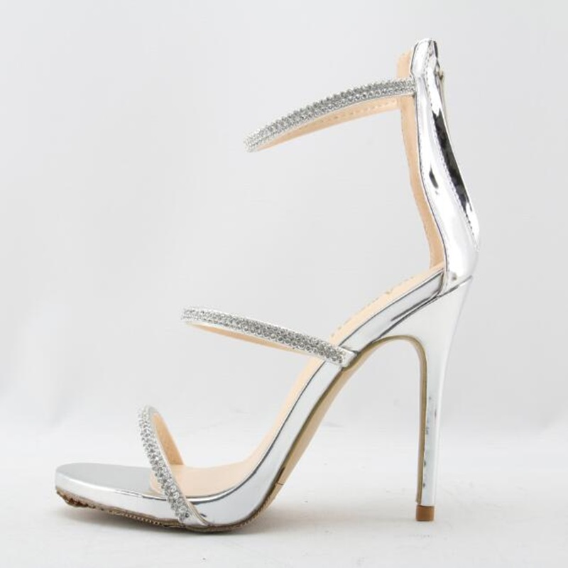 2018 Summer Sexy High Heels Women Sandals Plus Size Rome Open-toed Female Zip Sandals Thin High Heels Shoes Pumps Party Shoes asumer spuer heels shoes woman sexy lady fashion summer shoes flock buckle solid party shoes open toed women sandals size 34 43