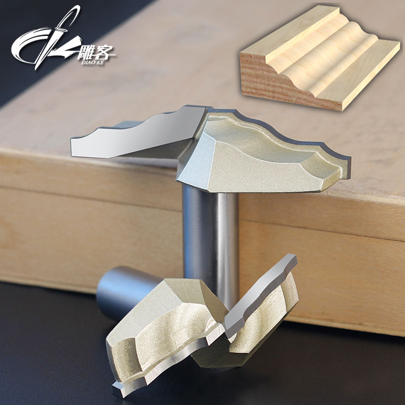 1PCS 1/2 Shank Chest/Door Engraving Machine Milling Knife,Wood Cutter Router  bits 3D Lace Woodworking milling cutter high grade carbide alloy 1 2 shank 2 1 4 dia bottom cleaning router bit woodworking milling cutter for mdf wood 55mm mayitr