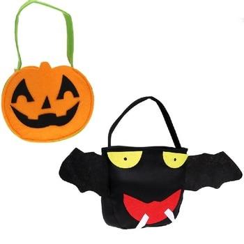 1 Pz FAI DA TE Zucca & Bat Bag Bambini Sacchetto di Caramelle Borsa Festa di Halloween