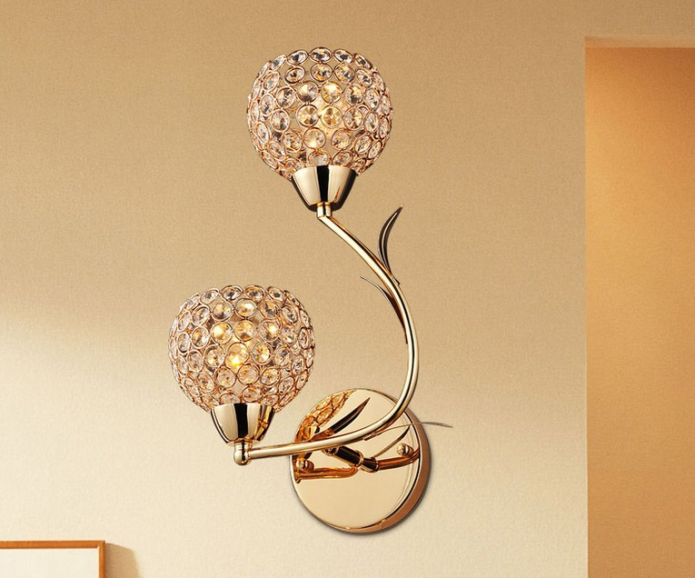 ФОТО Modern Crystal Wall Lamp Sconce K9 G9 Bed room Stairs Aisle chandelier wall light fixture shade for Home Decor Luminaire FRHA/18