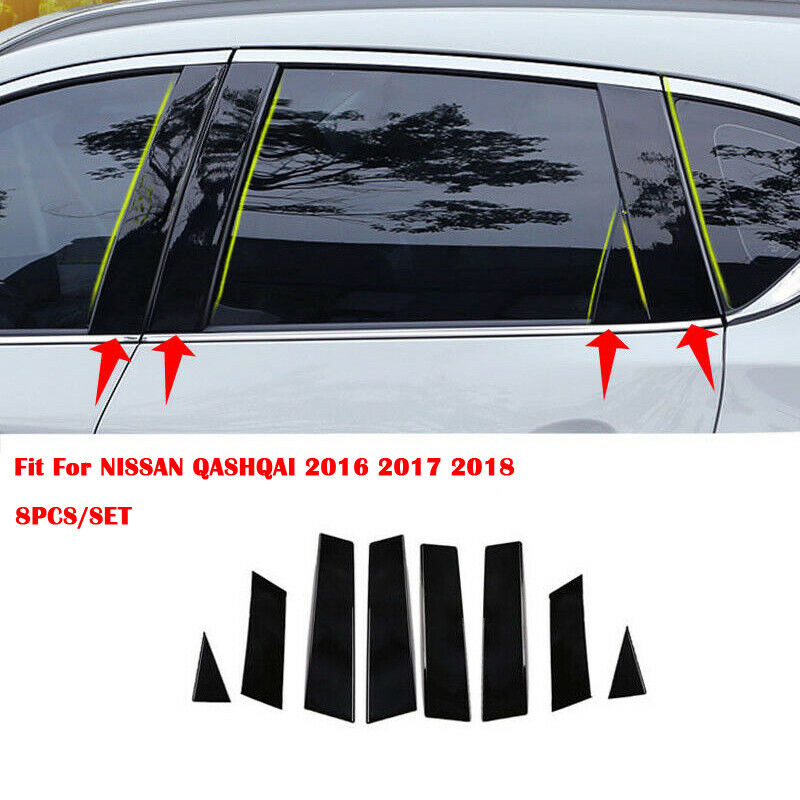 Fits BMW X3 2011-up Chrome Pillar Door Covers post window mirror trim ss