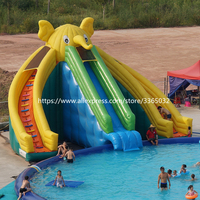 Outdoor inflatable water park / giant elephant inflatable water slide with swimming pool for sale