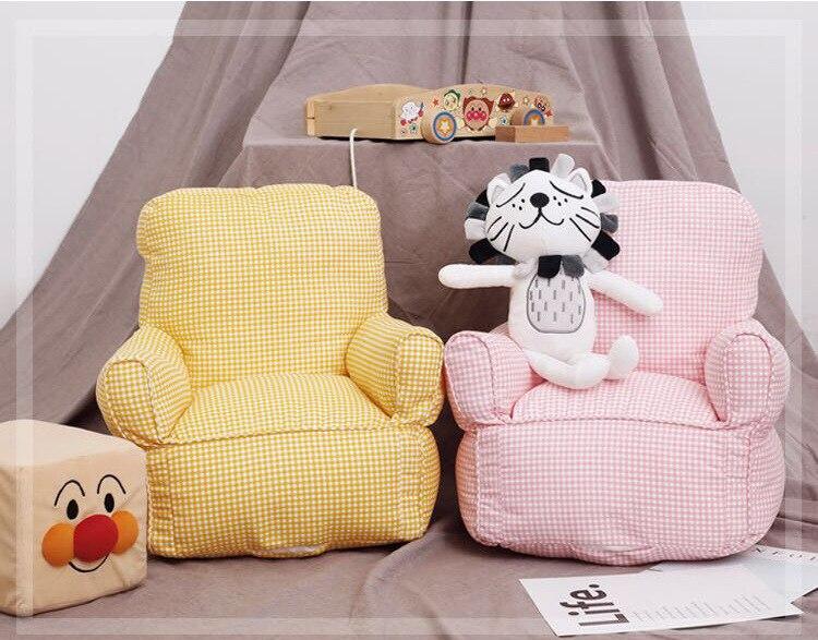 INS Baby Children's Single Sofa Mini Sofa Chair Kindergarten Sofa Child Furniture Cute Bean Bag  Kid Chair  Sponge  One Seat