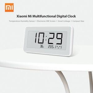 Image 3 - Xiaomi MIJIA BT4.0 ساعة رقمية ذكية لاسلكية ، ساعة داخلية وخارجية ، مقياس رطوبة ، ميزان حرارة ، LCD ، أدوات قياس درجة الحرارة